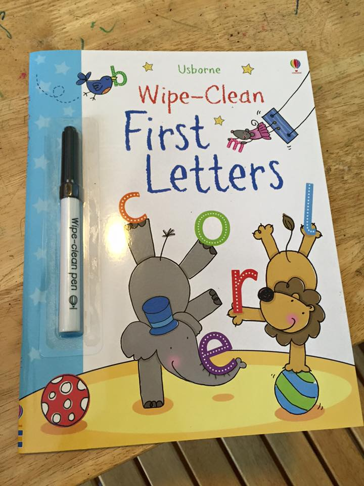 Wipe Clean First Letters1