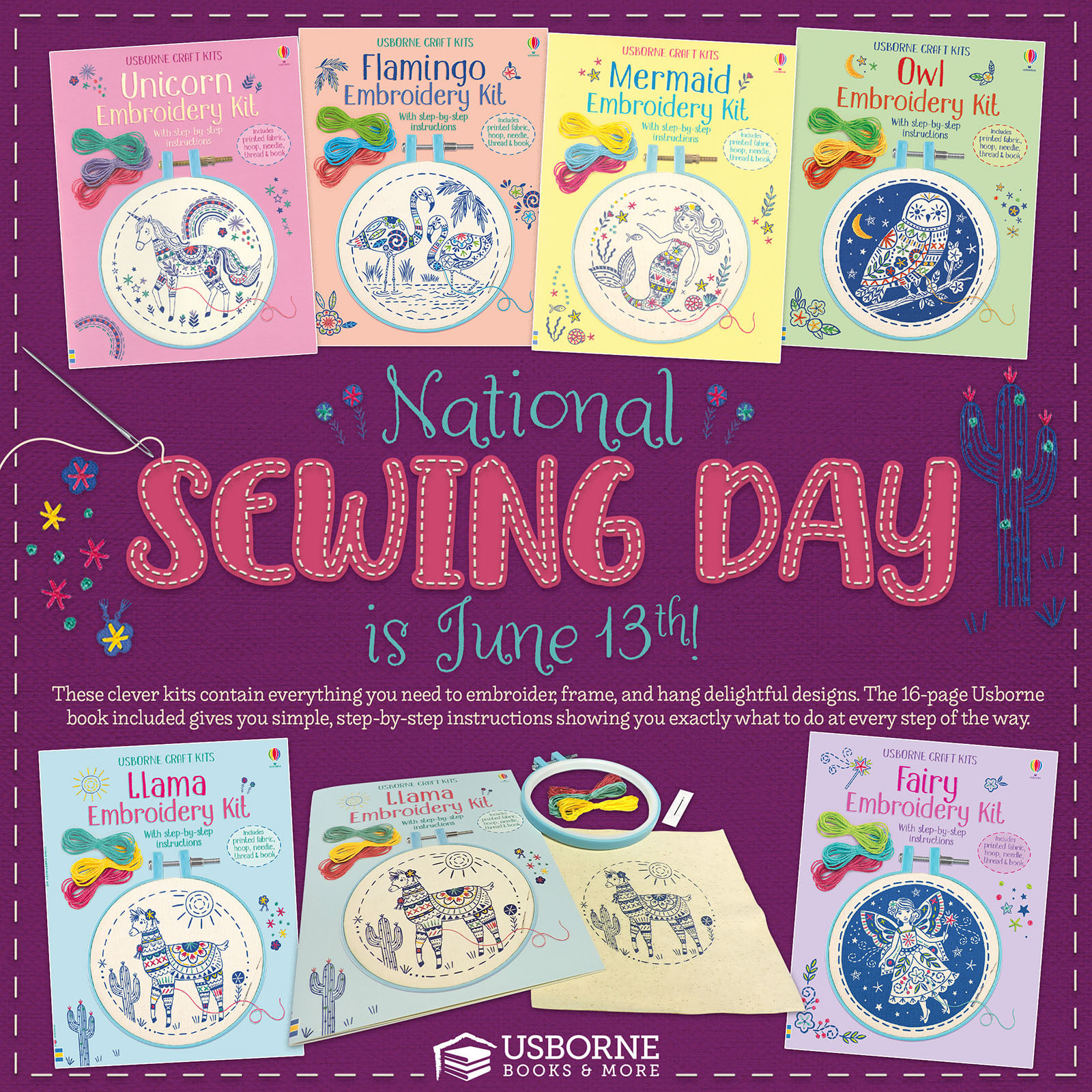 National Sewing Day is June 13th.