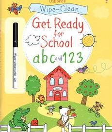 Usborne Wipe-Clean Get Ready for School abc and 123 - Usborne Books & More