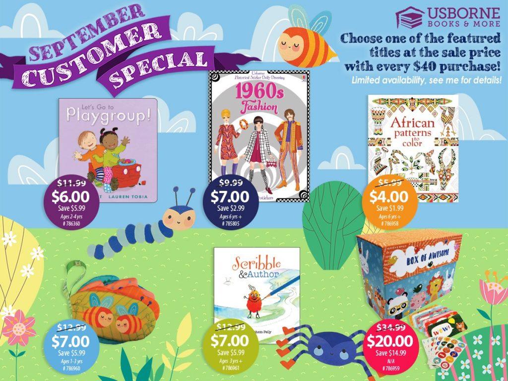 Usborne Books & More Customer Special September 2020