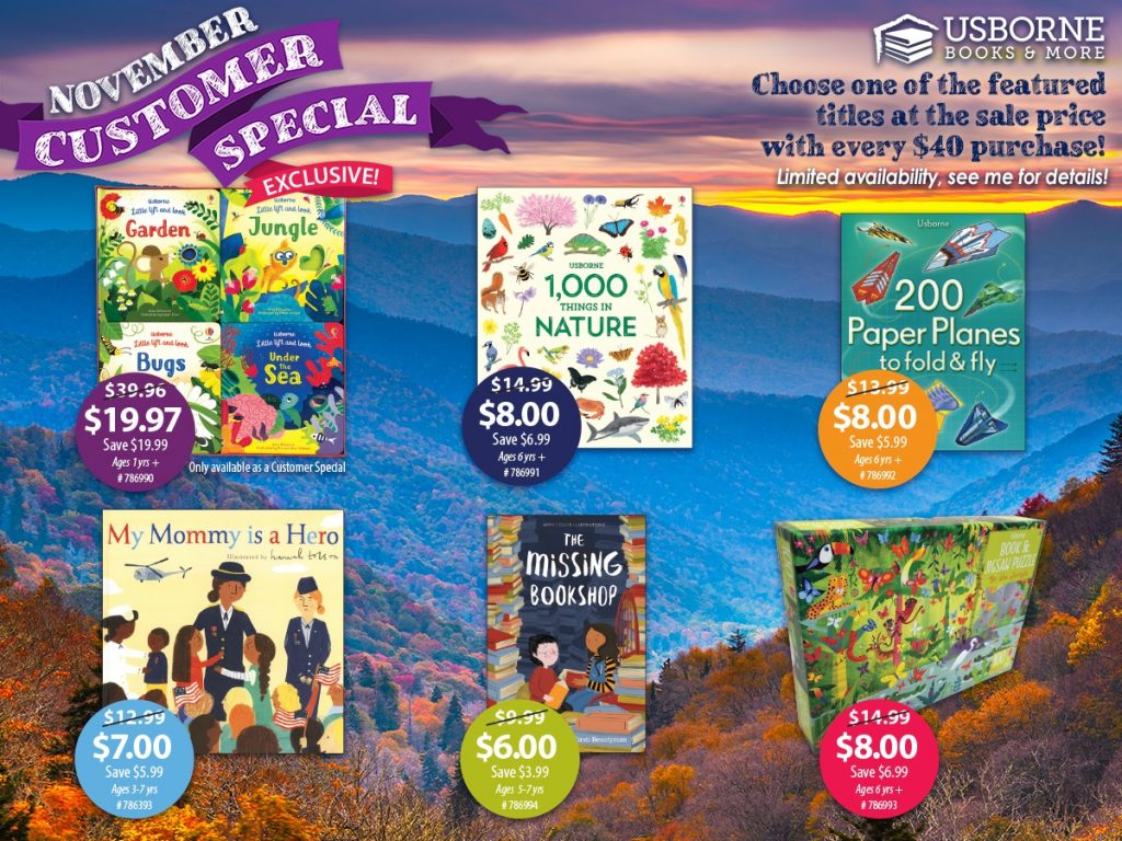 Usborne Books & More November 2020 Customer Special