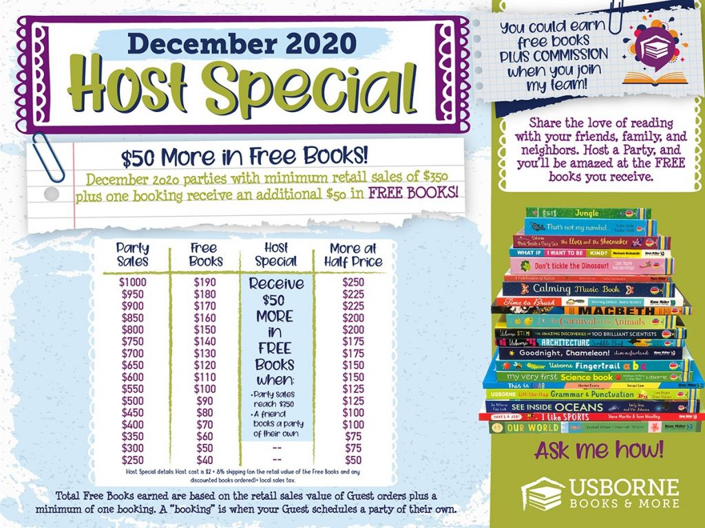Usborne Books December Host Special