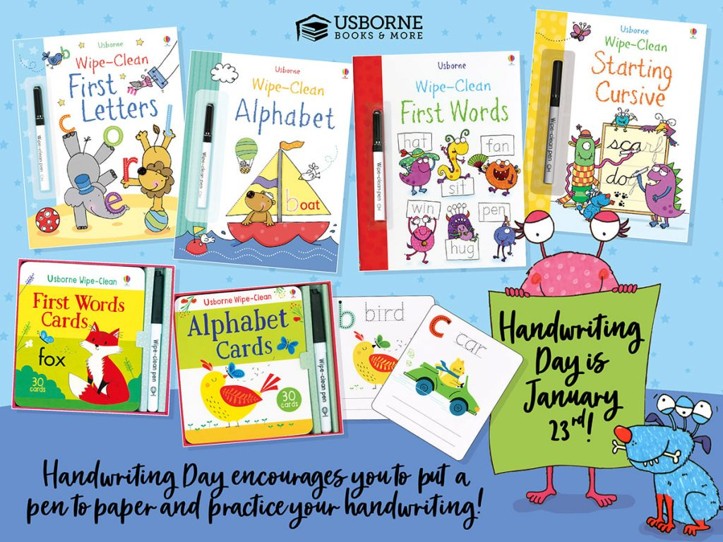 Handwriting Day is January 23.