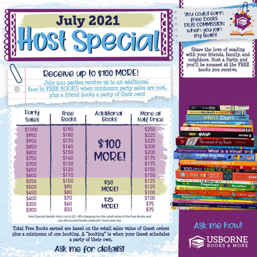 Usborne Books & More Host Rewards